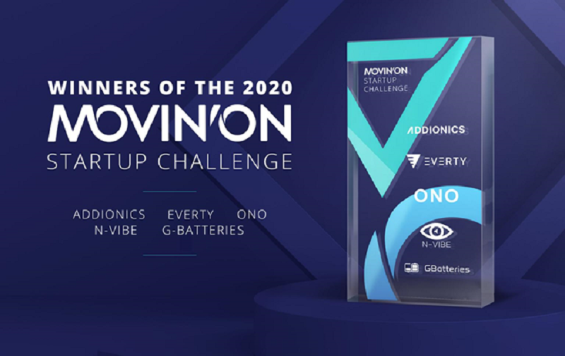 WINNERS OR THE 2020 MOVINON Startup Challenge